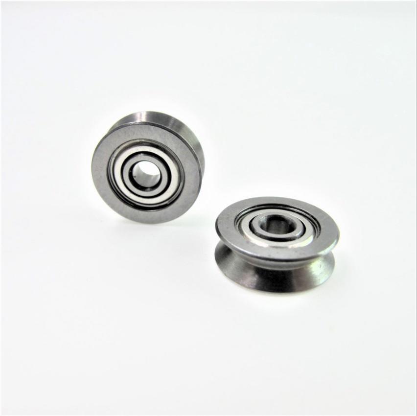 V groove ball bearing roller wheel for guide track 3*12*4