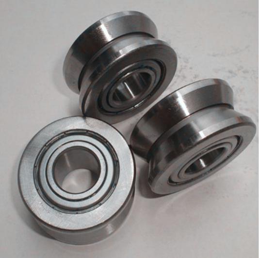 Sliding gate V groove wheel guide roller bearing