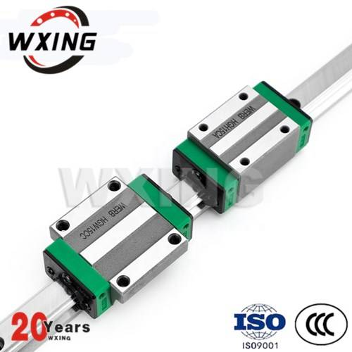 Linear slider bearing with rails for mask machine