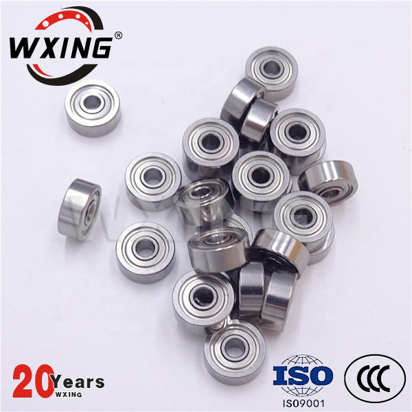 Miniature deep groove ball bearing for industrial equipment, small rotary motor
