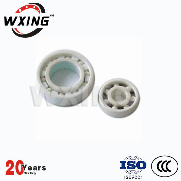 ZrO2 Si3N4 Hybrid Ceramic 608 Bearing For Skateboard And Roller Shoes