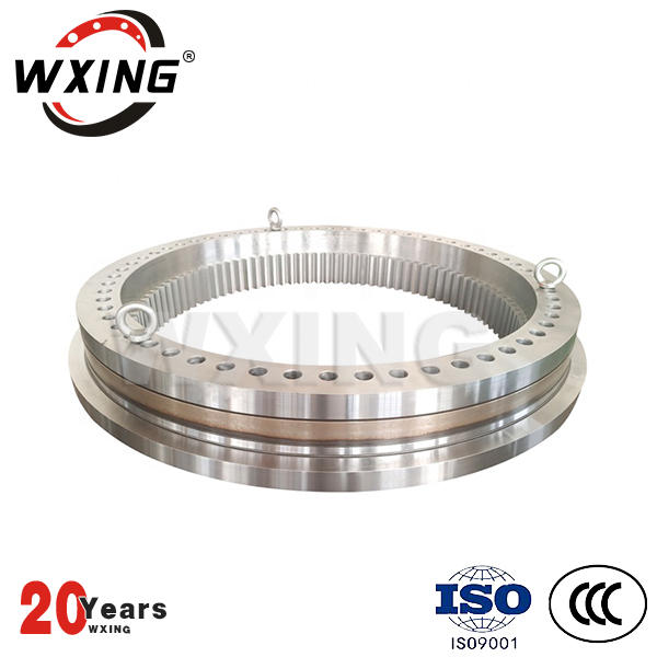 High load carry capacity gear hardened slewing ring gear and swing bearing for reachstacker