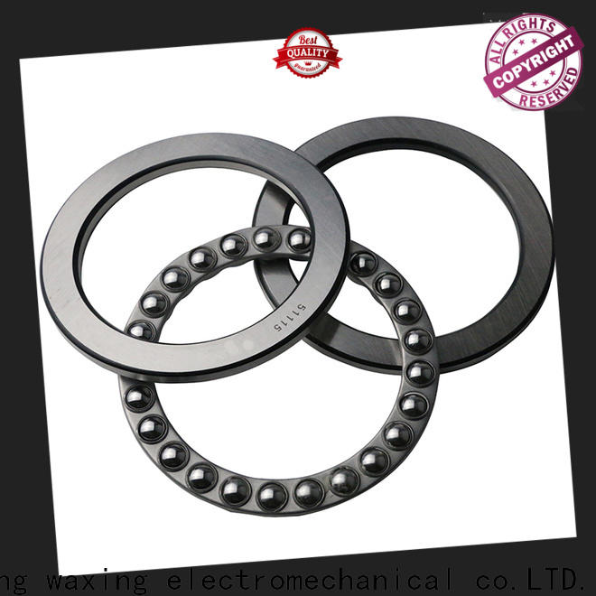 Waxing thrust ball bearing design excellent performance for axial loads